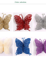 15Cm Christmas Butterfly Shedding Christmas Ornaments Christmas Ornaments Christmas Tree Decoration Butterfly Supplies