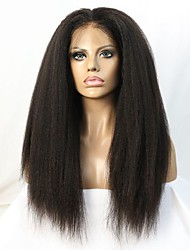 10-24 pouces brazilian cheveux vierges crépus perruque droite glueless avant de dentelle pour les femmes noires