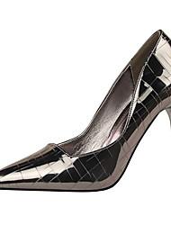 Damen-High Heels-Kleid-Kunstleder-Stöckelabsatz-Komfort-Schwarz / Rosa / Rot / Weiß / Silber / Gold / Champagner / Bronze