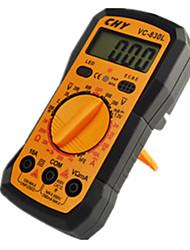 vc830l tabela universal multímetro digital