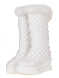 Women's Boots Spring / Fall / Winter Snow Boots / Fashion Boots Leatherette/ Casual Wedge Heel Others Black / White