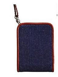 Унисекс Визитница / бумажник Полиуретан Для профессионального использования Черный Красный Синий Верблюжий
