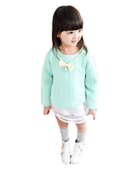 Girl's Casual/Daily Solid DressCotton Summer Green / Pink