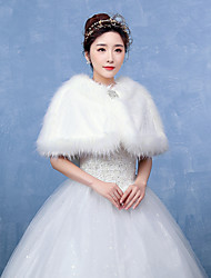 Women's Wrap Capelets Faux Fur Wedding / Party/Evening Pattern