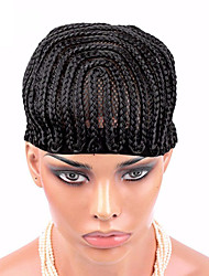 Cornrows Wig Cap For Making Wig Easier Sew High Quality Braided Wig Cap Lace Wigs Black Color 1pcs