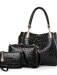 Women Patent Leather Casual Bag Sets