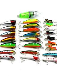 25 pcs Cebos Señuelos duros Colores Aleatorios 10 g Onza mm pulgada,Plástico duro Pesca de baitcasting