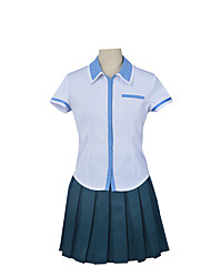 Women's Anime Kuromukuro Heroine Cosplay Costume Girls High School Uniform Set