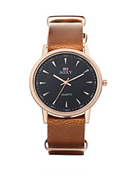 Men's Dress Watch / Wrist watch Quartz Water Resistant/Water Proof Leather Band Casual Black / Brown Brand