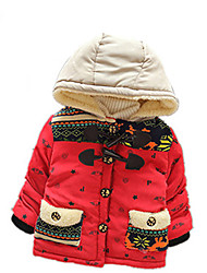 Boy's Casual/Daily Print Down & Cotton PaddedCotton Winter / Spring / Fall Blue / Red / Yellow