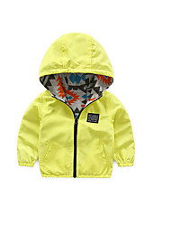 Boy's Casual/Daily Solid Jacket & CoatCotton Spring / Fall Yellow