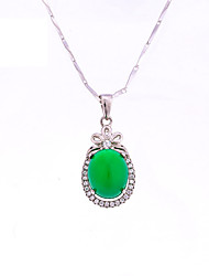 Women's Jewelry S925 Silver Agate Charm Water droplets-shaped Pendant for Women