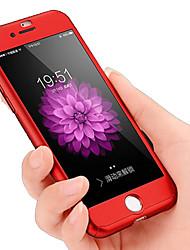 Capa rígida protetora protetora de pc de 360 graus para iphone 7 7plus 6s 6plus 5s se 5 com película de vidro temperado