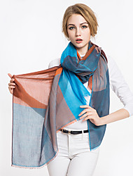 Women Vintage Casual Classic Stitching box color fringed fashion scarf shawl