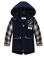 Boy's Casual/Daily Plaid Suit & BlazerCotton / Polyester / Spandex Winter Blue / Brown / Red