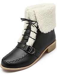 Women's Boots Winter Others Dress / Casual Low Heel Lace-up Black / Yellow / Beige / Orange Others