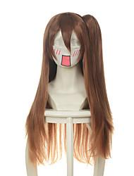 Chuunibyou Demo Koi Ga Shitai Nibutani Shinka Dark Brown Jaws Clamp Halloween Wigs Synthetic Wigs Costume Wigs
