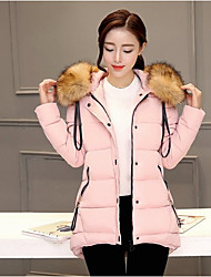 Sign 2016 new Korean version of the thick and long sections Slim Down Nagymaros collar down padded jacket female 916 #