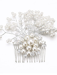 Women's Alloy Imitation Pearl Cubic Zirconia Headpiece-Wedding Special Occasion Hair Combs Flowers