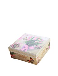 Note Size 11*11*4.5cm Japan And South Korea Rural Wind Rectangle Covered Six Times Sweet Gift Boxes