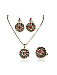 Bijoux Colliers décoratifs / Boucles d'oreille / Anneaux Nuptiales Parures / Set Sans pierre VintageMariage / Soirée / Quotidien /