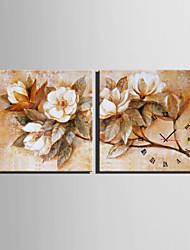 Quadratisch Modern/Zeitgenössisch Wanduhr , Anderen Leinwand40 x 40cm(16inchx16inch)x2pcs/ 50 x 50cm(20inchx20inch)x2pcs/ 60 x