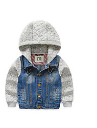 Boy's Casual/Daily Solid Jacket & CoatCotton Spring / Fall Blue