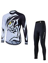 Sports Cycling Jacket with Pants Men's Winter Long Sleeve BikeThermal / Warm / Windproof / Fleece Lining / Anti-skidding/Non-Skid/Antiskid /