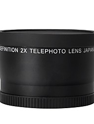 52mm 2.0x Telephoto Lens for Nikon D90 D80 D700 D3000 D3100 D3200 D5000 D5100 D5200 18-55mm DSLR Cameras