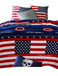 bedtoppings Decken Flanell Korallen Vlies Queen-Size 200x230cm capatin Amerika druckt dick 310gsm