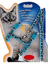Chat Laisses Ajustable/Réglable Solide Bleu Nylon