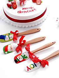 силикона выпечки инструмент торта маслом шпатель 2pcs-пятнадцатый может