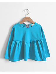 Girl's Casual/Daily Solid TeeCotton Spring / Fall Blue / Gray