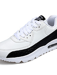 Unisexe-Sport-Noir Rouge BlancConfort-Chaussures d'Athlétisme-Cuir