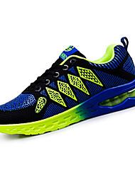 Femme-Décontracté / Sport-Bleu / Vert / Orange-Talon Plat-Confort-Sneakers-Tulle