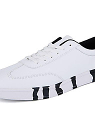 Men's Sneakers Spring/Summer/Fall /Winter Comfort Synthetic Athletic / Casual Flat Heel Black/White Sneaker