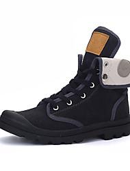 Men's Sneakers Spring / Fall Comfort Fabric Casual Flat Heel Black / Yellow / Gray Sneaker