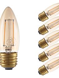 2W E26/E27 LED лампы накаливания B 2 COB 160 lm Янтарный Регулируемая V 6 шт.