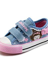 Girl's Sneakers Spring / Fall Comfort Canvas / Cotton Outdoor / Casual Flat Heel Hook & Loop Blue Walking / Sneaker