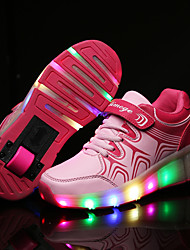Boy Girl's Sneakers Spring / Fall / Winter / Comfort Leather Outdoor / Roller Skate Shoes / Casual  LED / Light Up Shoes