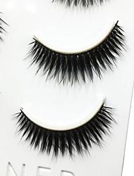 Eyelashes lash Full Strip Lashes Eyes Thick Volumized Handmade Fiber Black Band 0.07mm 12mm