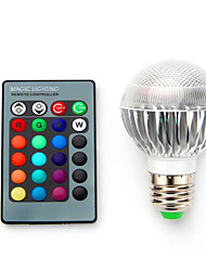 Ac85-265v 5w b22 e14 e27 e26 rgb LED ampoules de décoloration à commande intelligente 1pc