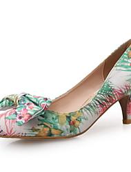 Оливковый-Женский-Свадьба / Для праздника / Для вечеринки / ужина-Ткань-На шпильке-Удобная обувь-Обувь на каблуках