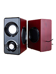 Dual-Diaphragm Mini Subwoofer (Note Redwood)