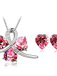 Thousands of colors  Jewelry Necklaces / Earrings Jewelry set Crystal Fashion Daily 1set Women -4342