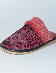 Feminino-Chinelos e flip-flops-Chanel-Rasteiro-Vermelho-Outras Peles de Animais-Casual