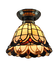 8 inch Retro Tiffany Ceiling Lamp Glass Shade Flush Mount Living Room Bedroom Dining Room Kids Room light Fixture
