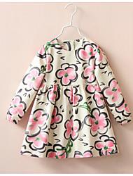 Robe / Ensemble & Combinaison Fille de Fleur Sortie Coton Printemps / Automne Blanc