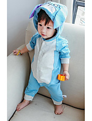 Baby Casual/Daily Solid Clothing Set-Cotton-Fall-Blue / Pink