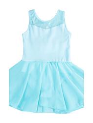 Toddler Girls Ballet Leotard/ Unitard Lace Cotton Dancewear in Cyan/Hot Pink/Black /Pink/Purple for 3-12Years